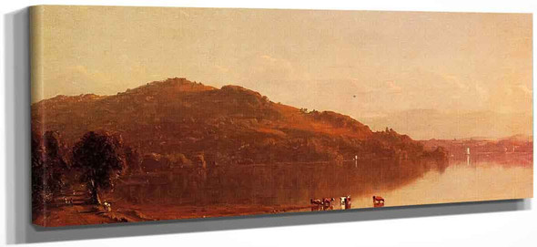 The Catskills From Hudson, N.Y. By Sanford Robinson Gifford