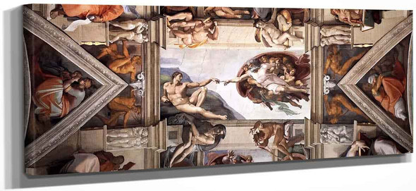 The Ceiling Of The Sistine Chapel  2 By Michelangelo Buonarroti By Michelangelo Buonarroti