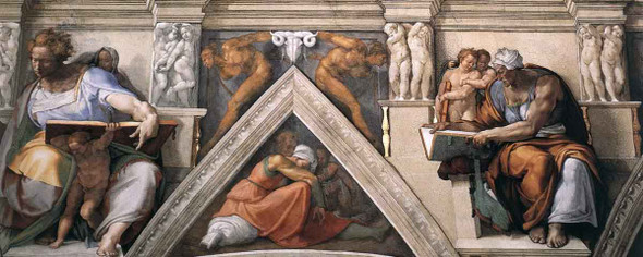 The Ceiling Of The Sistine Chapel 4 By Michelangelo Buonarroti By Michelangelo Buonarroti