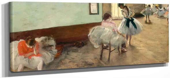 The Dance Lesson By Edgar Degas