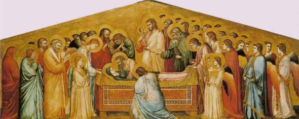 The Entombment Of Mary By Giotto Di Bondone By Giotto Di Bondone