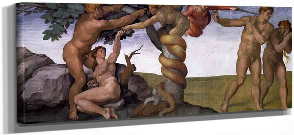 The Fall And Expulsion From Garden Of Eden By Michelangelo Buonarroti By Michelangelo Buonarroti