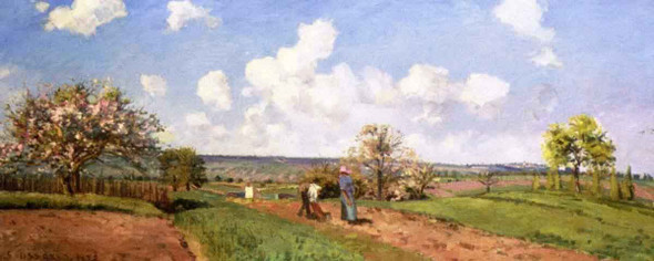 The Four Seasons Spring By Camille Pissarro
