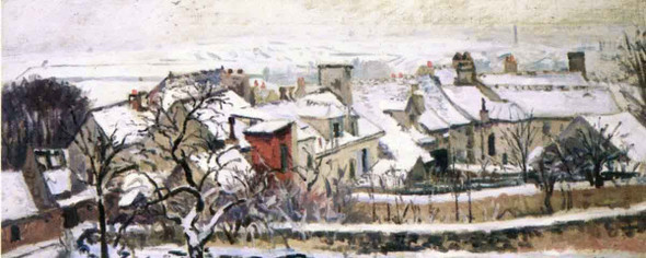 The Four Seasons Winter By Camille Pissarro