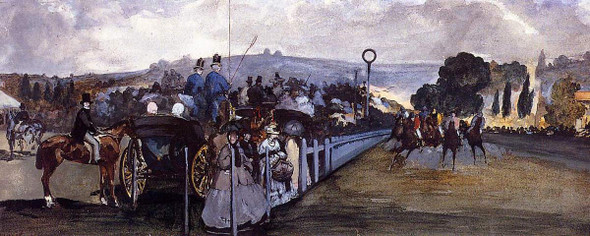 The Races At Longchamp By Edouard Manet