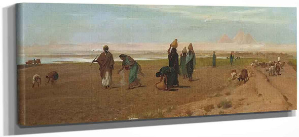 The Sheik's Daughter Sowing The Dourah By Frederick Goodall