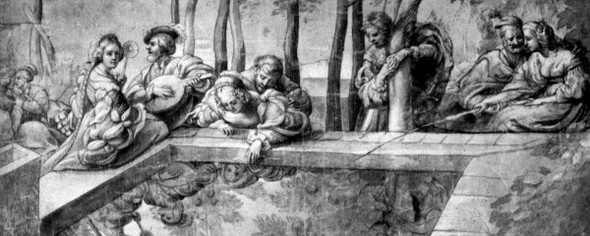 The Society Near Fountain By Peter Paul Rubens