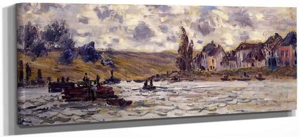 The Village Of Lavacourt By Claude Oscar Monet