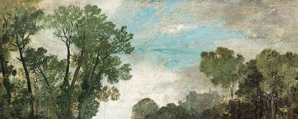 Tree Tops And Sky, Guildford Castle , Evening By Joseph Mallord William Turner