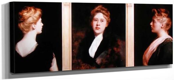 Triple Portrait Of A Woman By John Maler Collier
