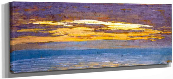 View Of The Sea At Sunset By Claude Oscar Monet