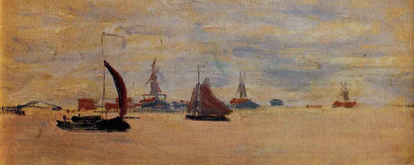 View Of The Voorzaan By Claude Oscar Monet