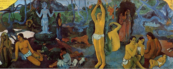 Where Do We Come From What Are We Doing Where Are We Going By Paul Gauguin