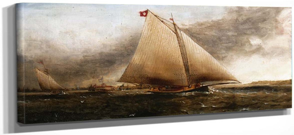 Yacht Race Off Castle Garden, New York By James E. Buttersworth