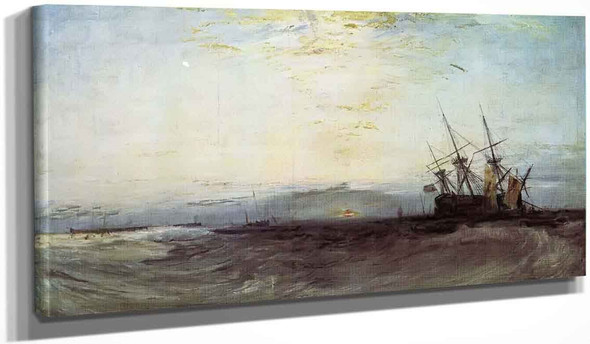 A Ship Aground, Yarmouth By Joseph Mallord William Turner