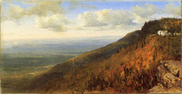 A Sketch From North Mountain, In The Catskills By Sanford Robinson Gifford