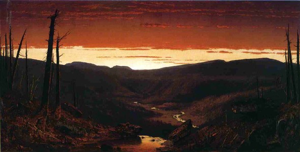 A Twilight In The Catskills By Sanford Robinson Gifford
