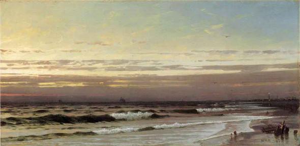 Along The Atlantic Coast By William Trost Richards By William Trost Richards