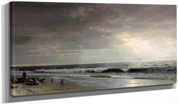 Along The Atlantic By William Trost Richards By William Trost Richards