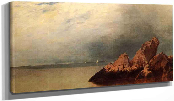 Along The Shore By John Frederick Kensett By John Frederick Kensett