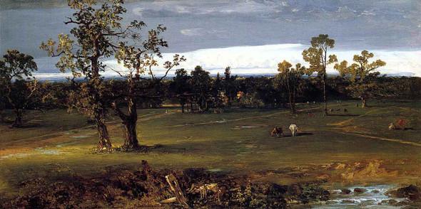 At Pasture By John Frederick Kensett By John Frederick Kensett