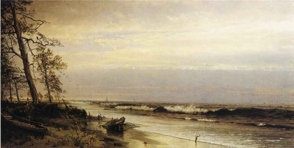 Atlantic City Shoreline By William Trost Richards By William Trost Richards