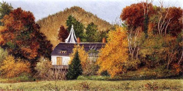 Autumn Scene In The North Carolina Mountains 1 By William Aiken Walker