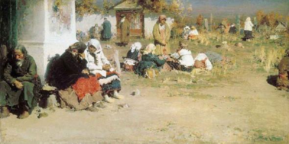 Before The Church Service By Abram Efimovich Arkhipov