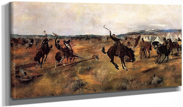 Breaking Camp By Charles Marion Russell
