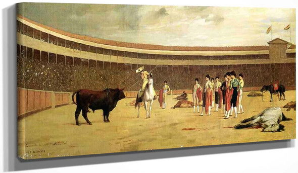 Bull And Picador By Jean Leon Gerome