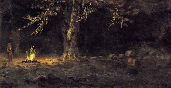 Campfire, Yosemite Valley By Albert Bierstadt