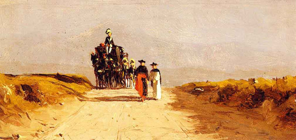 Cardinal's Coach On The Campagna By Sanford Robinson Gifford