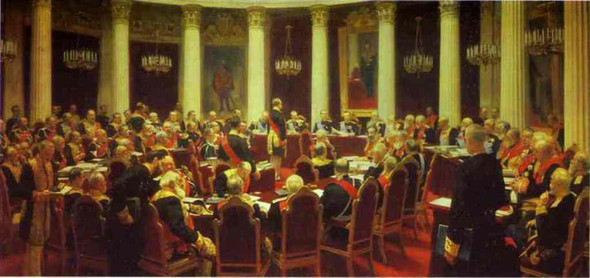 Ceremonial Meeting Of The State Council. By Ilia Efimovich Repin