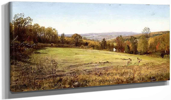 Chester County Landscape By William Trost Richards By William Trost Richards