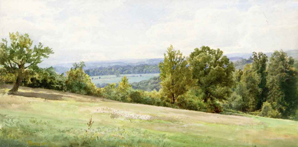Chester Valley, Pennsylvania By William Trost Richards By William Trost Richards