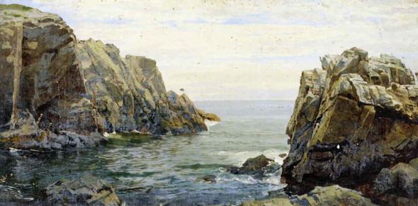 Cornish Coast Kynance Cove By William Trost Richards By William Trost Richards