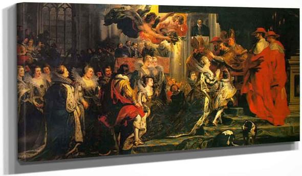 Coronation Of Marie De Medici By Peter Paul Rubens