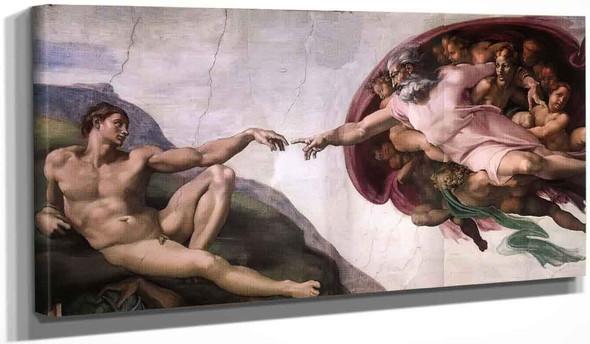 Creation Of Adam 13 By Michelangelo Buonarroti By Michelangelo Buonarroti