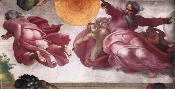 Creation Of The Sun, Moon, And Plants By Michelangelo Buonarroti By Michelangelo Buonarroti