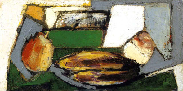 Cubist Still Life With Pears And Bananas By Alfred Henry Maurer By Alfred Henry Maurer