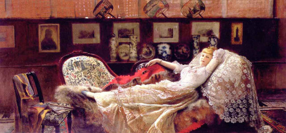 Daydreams By John Atkinson Grimshaw  By John Atkinson Grimshaw
