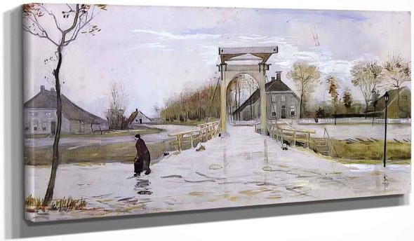 Drawbridge In Nieuw Amsterdam By Vincent Van Gogh