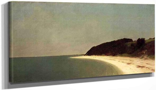 Eatons Neck Long Island By John Frederick Kensett By John Frederick Kensett