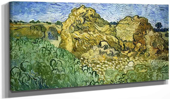 Field With Stacks Of Wheat By Vincent Van Gogh