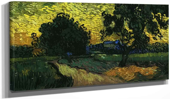 Field With Trees, The Chateau Of Auvers By Vincent Van Gogh