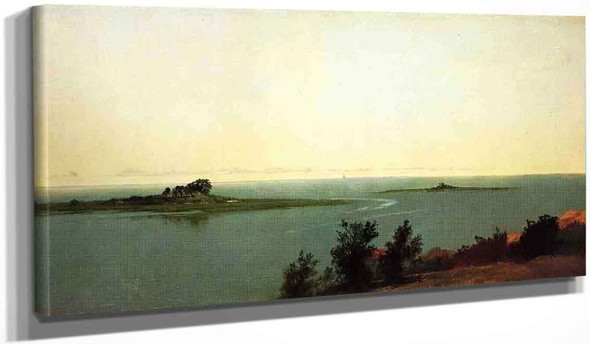 Fish Island From Kensetts Studio On Contentment Island By John Frederick Kensett By John Frederick Kensett