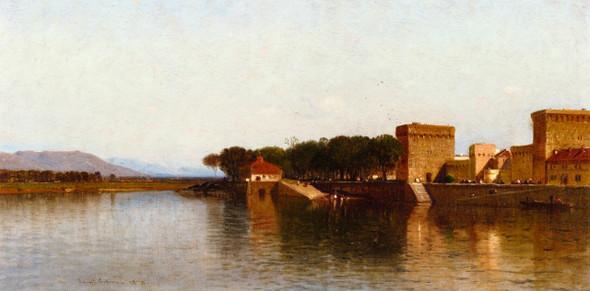 Harbor Scene By Samuel Colman