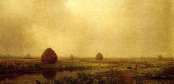 Jersey Marshes By Martin Johnson Heade