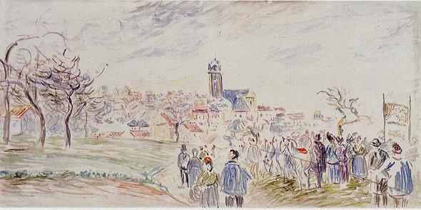 La Saint  Martin A Pontoise By Camille Pissarro