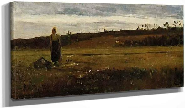 Landscape At La Varenne Saint Hilaire By Camille Pissarro
